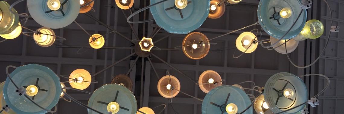 Oudelampjeskapjeslamp - Piet Hein Eek -