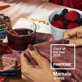 Pantone: Marsala is a subtly seductive shade, one that draws us in to its embracing warmth.