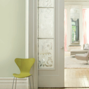 Benjamin Moore: Guildford green. No worries. No second thoughts. Just a brush, dipped in a can, whooshed on a wall, and a whole lot of happily ever after.